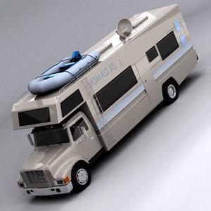camper camp 3d model