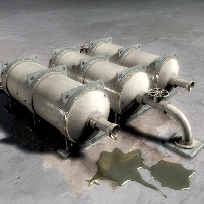 3ds max oil tanks