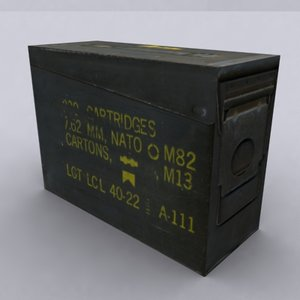 3d ammo boxes model