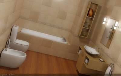 bathroom scene 3ds