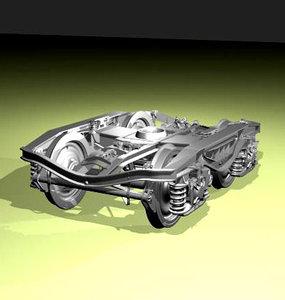 bogie machine modelled max