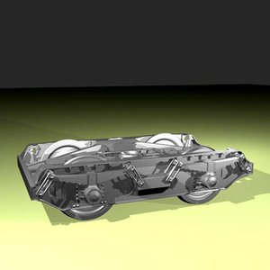3d model bogie wagon