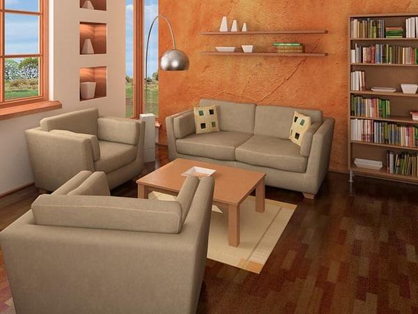 sitting room 3d model