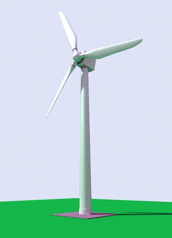 3ds max wind turbine