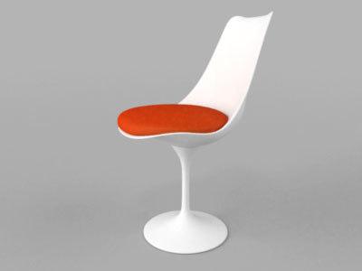 saarinen chair tulip 3d max