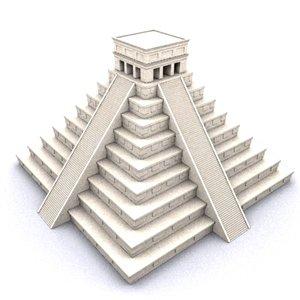 3d el castillo pyramid