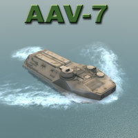 aav-7 vehicle military marine corps 3d model
