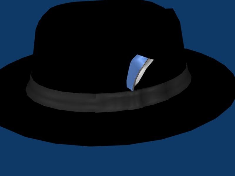 blend black fedora hat