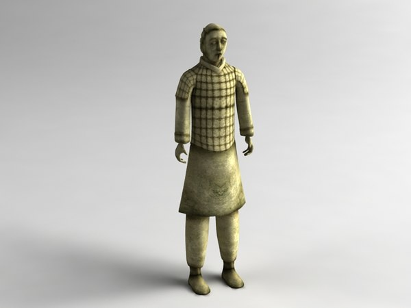 3d model chinese warrior