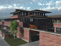 robie house 3d model