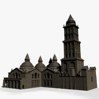 3d old cathedral model