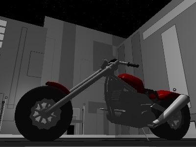 free motocycle chopper 3d model