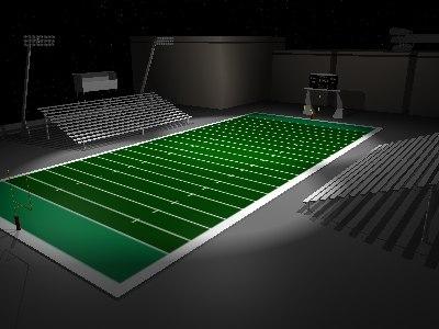 school football stadium 3d model