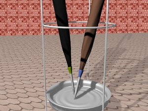 umbrella stand platea 3d model