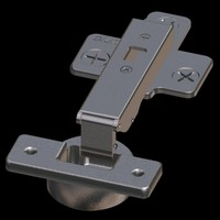scale blum hinge 3d model