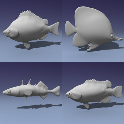 3d fishes model