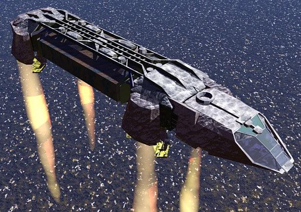 cargo space ship 3d model