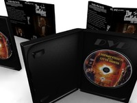 3d model animatable dvd box cd