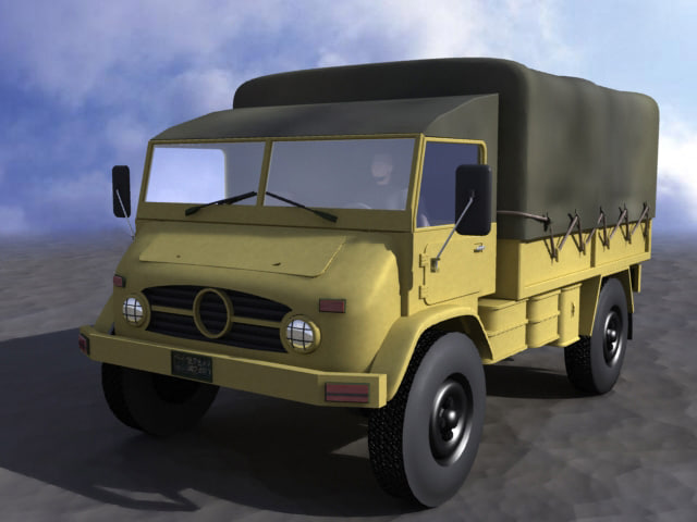 3d model army truck