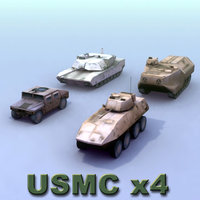 marine warfare vehicle military 3d 3ds