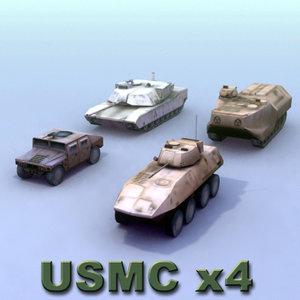 marine warfare vehicle military 3d 3ds