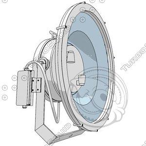3d lamps cartoon model