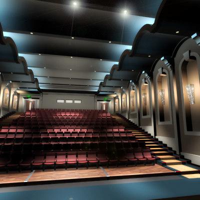 3d model movie theatre