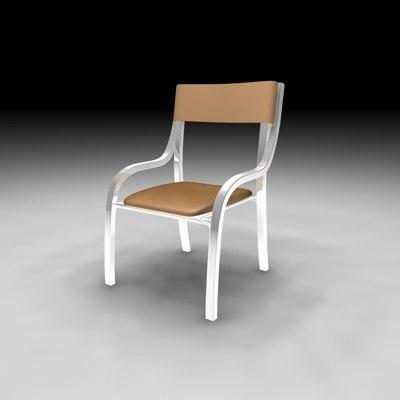 3d c4d chair sit