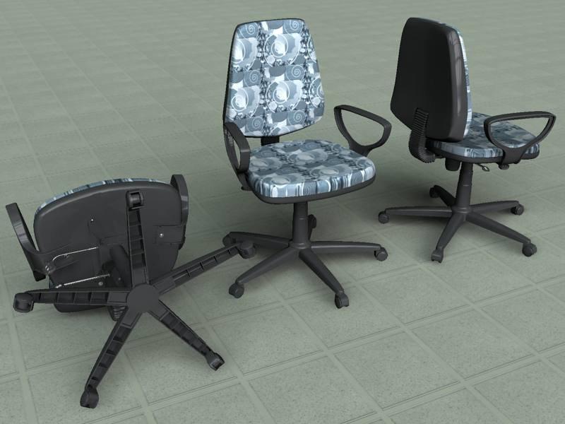 rotating chair 3d model