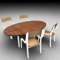 3d c4d table chair