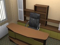 3d model director desk furniture