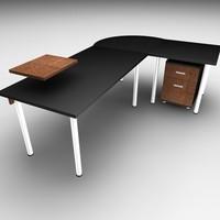 cinema4d table office set