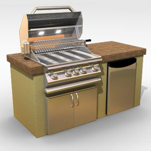 outdoor grill stove 3d model