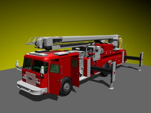 grape vine firetruck 3d model