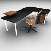 office chair set 3d model
