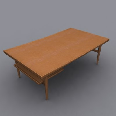 danish modern teak coffee table max