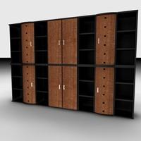 office cabinet set 3d model