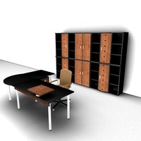 3d model office cabinet chair