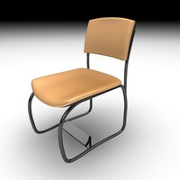 visitor chair sit 3d model