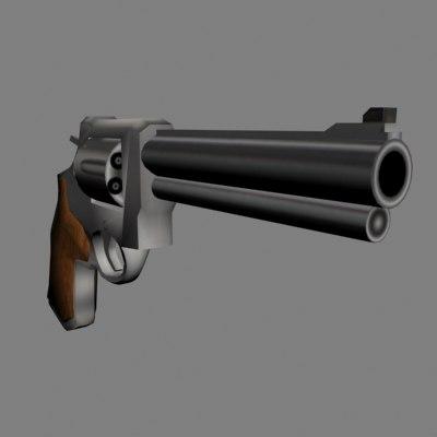 3d model 44 magnum revolvers