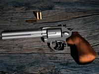 revolver 357 magnum 3d model