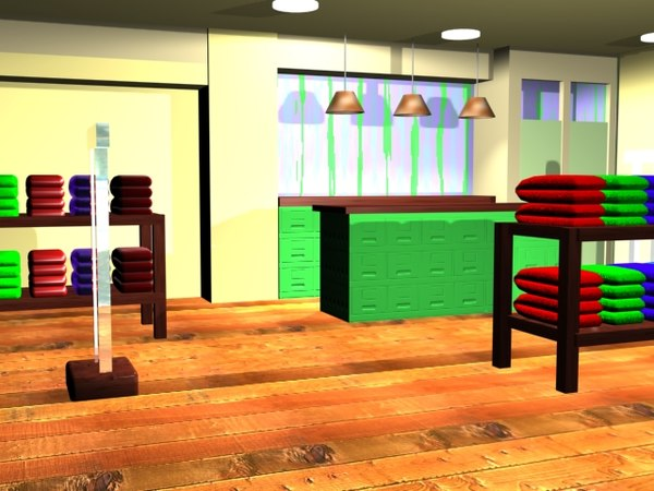 3d model clothing store mall