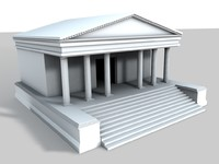 3d ancient temple model
