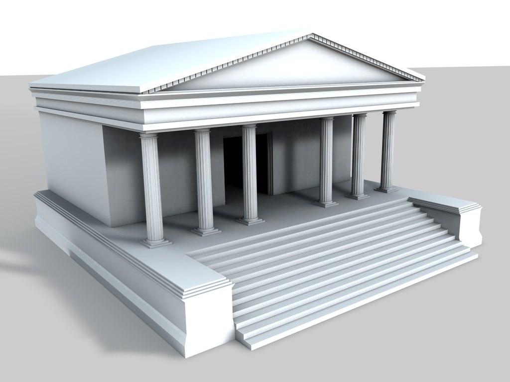 3d ancient temple model