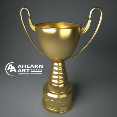 3d model of trophy award cup