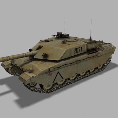 3d british tank challenger model