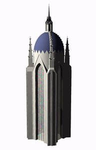 tower gothic 3d model