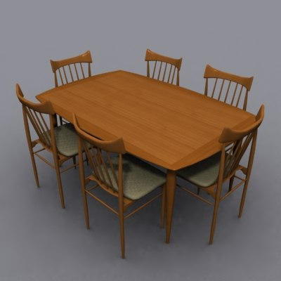 john keal dining set 3d model