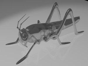 grasshopper locust 3d max