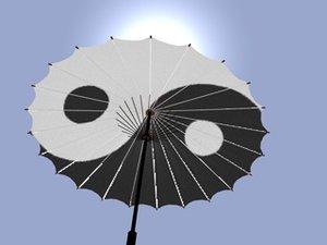 3d model chinese umbrella